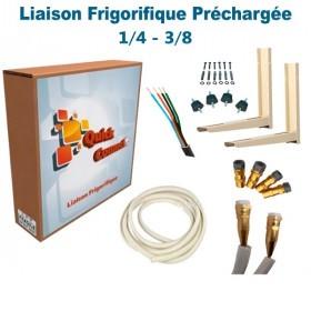 Liaison Frigorifique Préchargée 1/4-3/8 Quick Connect Plus Pack6